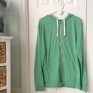 Men's green zip up hoodie